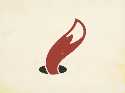 Foxhole Red illustration vector roughen wine logo tail foxhole hole fox