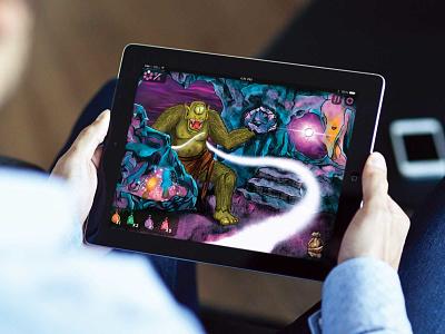Gorgos Game Design app dashboard art mythical creature greek app concept design game app texture illustration