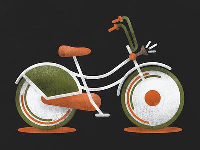 Bike texture riding orange olive graphic vector illustration bike bikeride
