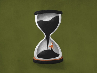 Time Trap – Hourglass art gamedesign design texture illustration vector prison time management boy trapped fall sand money sins greedy time hourglass