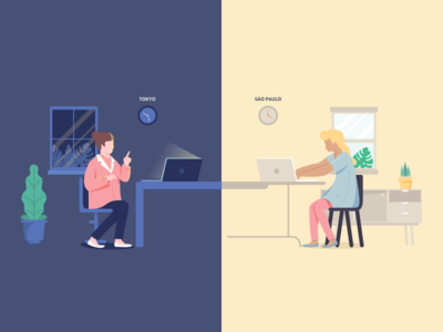 Video Call For Coaching & Mentoring Platform Illustration