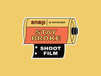 SNAP Stay Broke, Shoot Film