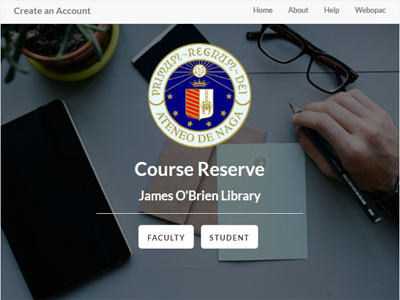 Adnu Course Reserve jquery javascript css html php responsive bootstrap