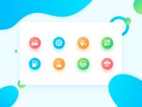 Color icon design