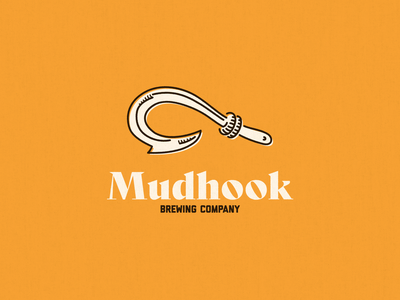 Mudhook Brewing Logo Draft logo design logo