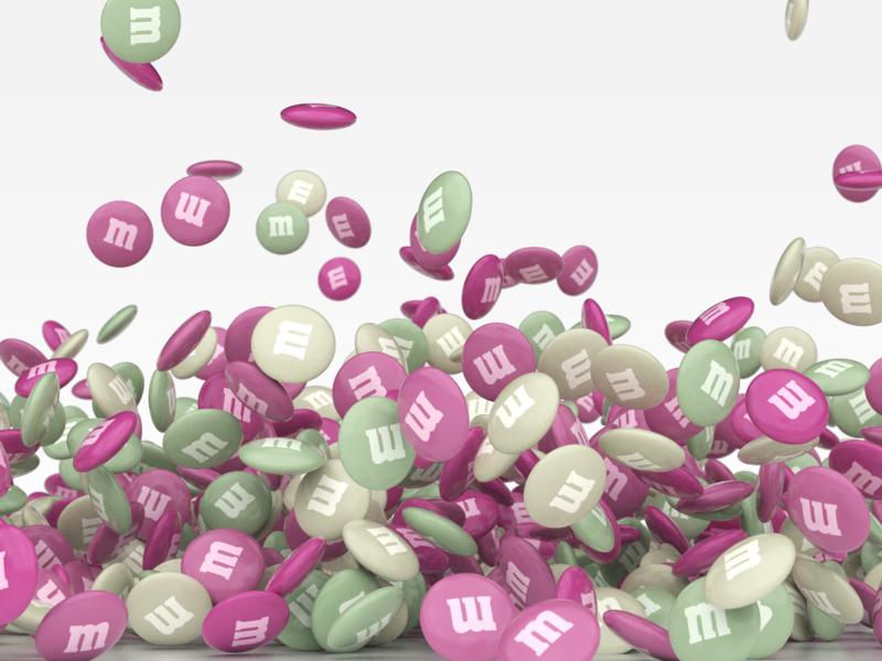 Candy Rain redshift3d motion graphics motion design houdini