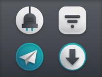 macOS icons for dark mode