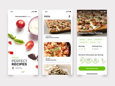 Recipes design sketch invisionstudio graphic ux ui graphicdesignui appdesign prototype designinspiration uiux visualdesign