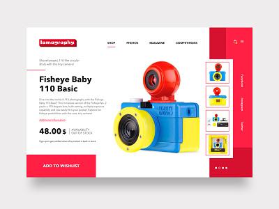 Lomography Product Details Page Design design sketch invisionstudio graphic ux ui graphicdesignui appdesign prototype designinspiration uiux visualdesign