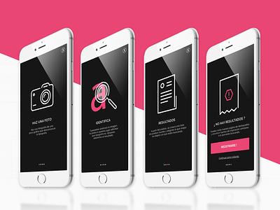 Walkthrough Typeseeker App tipografía marca logo tipografia vector diseño gráfico prototipo gráfico ui bosquejo uiux diseño visual ilustración ux designinspiration diseño diseño de la aplicación app walkthrough
