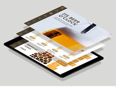 Brew Bcn App for Ipad ipad beer art walkthrough app diseño de la aplicación diseño designinspiration ux diseño visual uiux bosquejo ui gráfico prototipo diseño gráfico vector tipografia logo marca tipografía