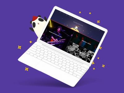 Pandarocketship Homepage Redesign