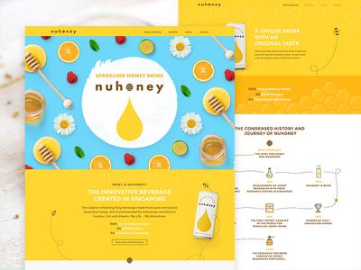 Nuhoney - Homepage Design