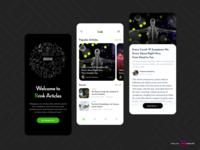 Brink Articles- Blog App flat icon app illustration visual design ux design blogging blogger blog