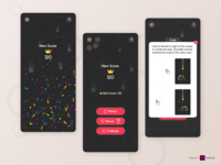 Ball to ring 2- Mobile Game minimalist logo minimal game ui ux