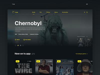 TV App serials film tv layout ui app 025 daily ui