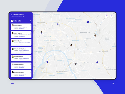 Map web app admin delivery map 029 daily ui