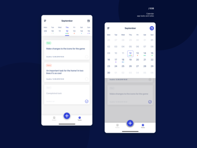Calendar–notes and task