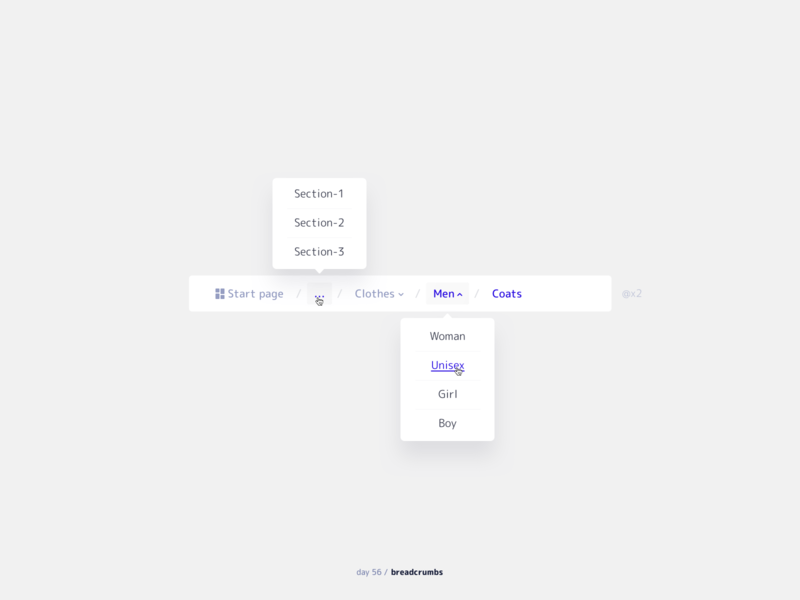 Breadcrumbs element ui mobile web ux breadcrumbs 056 daily ui