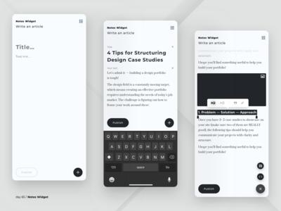 Notes widget