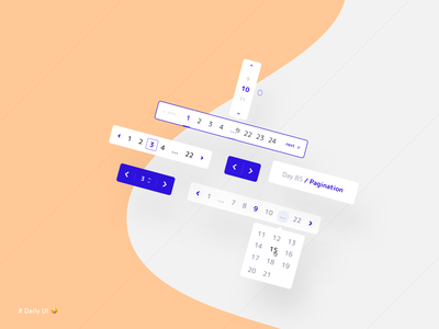 Pagination product mobile web dropdown kit pagination 085 daily ui