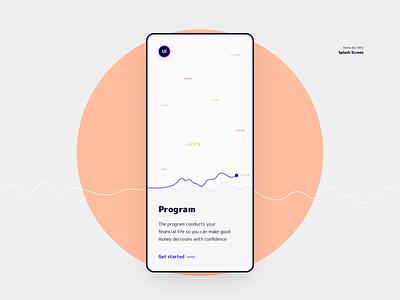 Splash screen design app finance app chart splashscreen finance kit mobile 093 daily ui