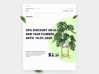 Advertisement - letter store flower day e-mail e-commerce mobile web advertisement letter 098 daily ui
