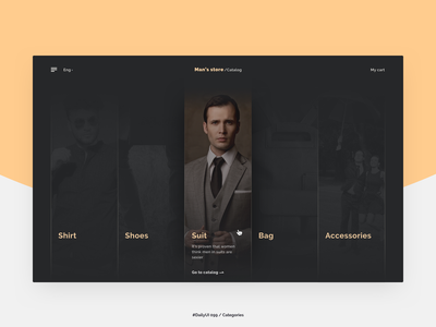 Categories store man catalog categories web e-commerce 099 daily ui