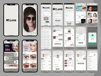 XLLens - Contact Lens & Glass Shopping Mobile Application app design uiux mobile app shopping app