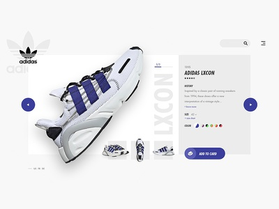 Sneakers Shop Website (1/2) light mode light blue uidesign uiux webdesign website lxcon adidas sneakers futura typo interface design ux ui