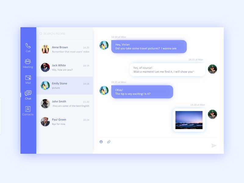 Chat by Yidan | Dribbble | Dribbble
