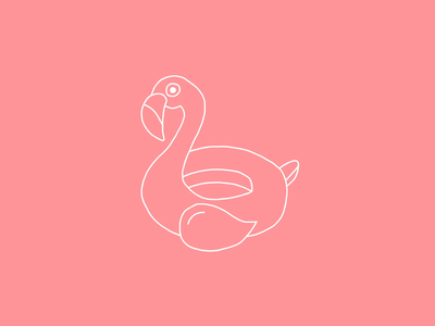 Pink Flamingo freehand digital hand drawing motion animation after effect pink vector illustration flamingo