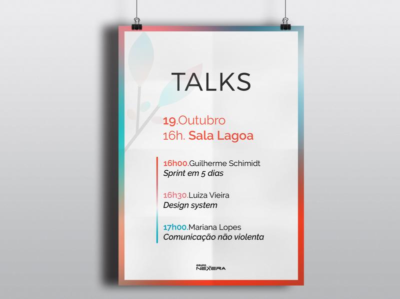 Talks - Poster mockup logo design