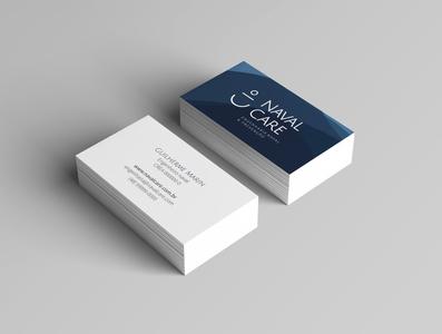 Naval Care - Business card branding mockup logo design