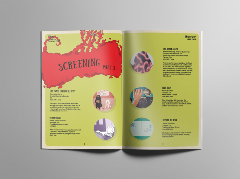 TAIS animation showcase 2015 Program guide - Screening editorial mockup design