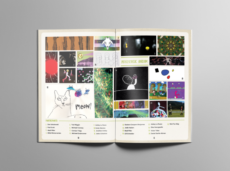 TAIS animation showcase 2015 Program guide - Participants editorial mockup design