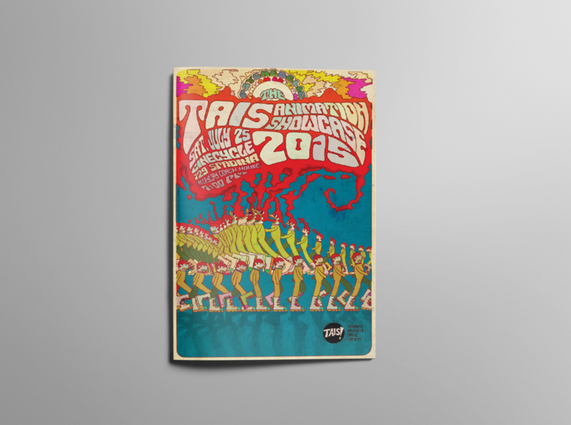 TAIS animation showcase 2015 Program guide - Cover editorial mockup design