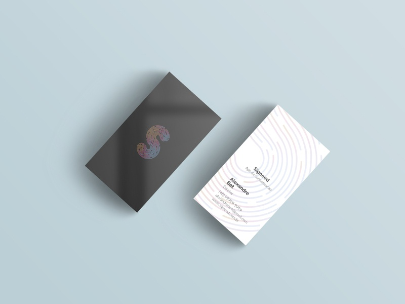 Signeed - Business Card branding mockup logo design