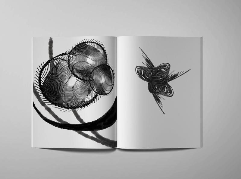 Architectural Narrative - Contemporary photo montage editorial mockup design