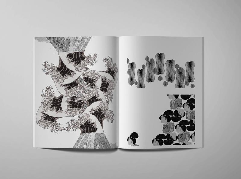 Architectural Narrative - Classical photo montage editorial mockup design
