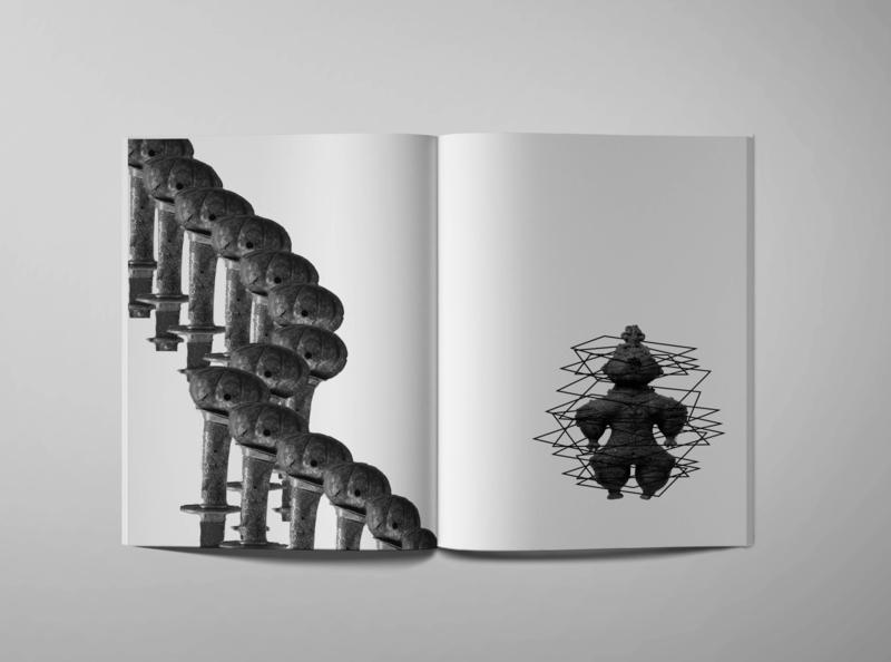 Architectural Narrative - Ancient photo montage editorial mockup design