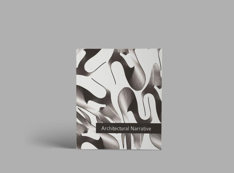 Architectural Narrative - Cover photo montage editorial mockup design