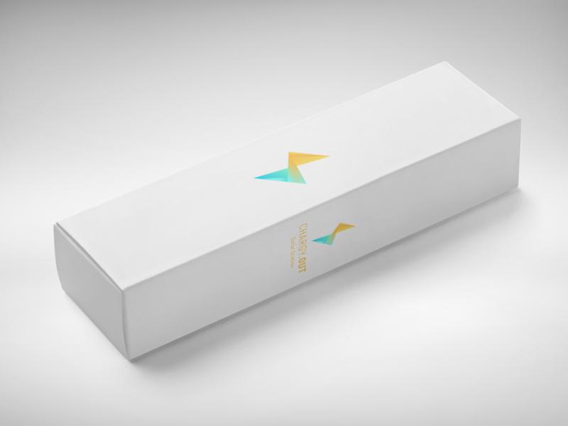 Chargy - Box mockup visual identity logo mockup design