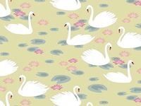 Swan Repeat Pattern