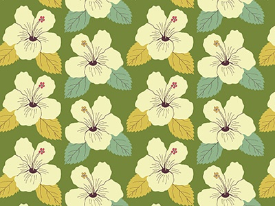Tropical Hibiscus illustration surface pattern pattern design hibiscus pattern flowers floral tropical