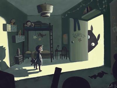 Kid Room Concept By Evelt Yanait artforkids digitalart drawing childrensbook storybook childrensart childrensillustration