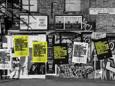 DESTROY THE MACHINES - Posters in situe test poster typography art experiment graphic design illustration illustrator design