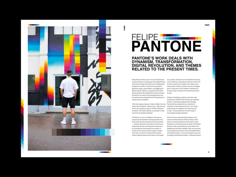 Felipe Pantone - Editorial Spread artist layout exploration spread pantone felipe pantone graffiti layout editorial design layout design editorial type poster typography art experiment illustration graphic design design illustrator