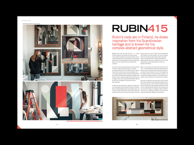 RUBIN415 - Editorial Spread magazine magazine spread street art graffiti artist rubin spread editorial design layout design layout editorial type typography art experiment illustration graphic design design illustrator