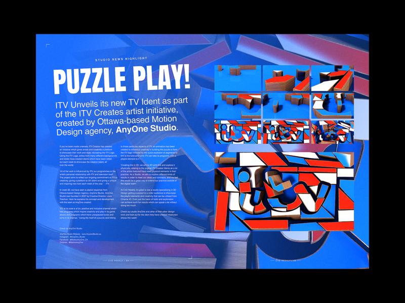 Puzzle Play! - Editorial Spread editorial art story board motion design motion editorial design layout design layout editorial vector poster typography art experiment illustration graphic design design illustrator